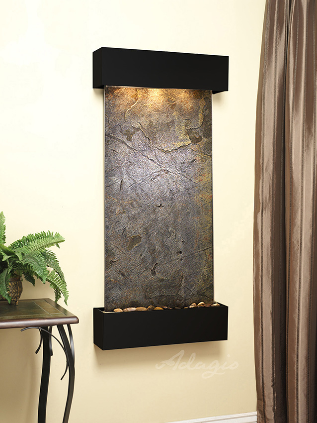 Cascade Springs Wall Water Feature With Lw Green Slate And