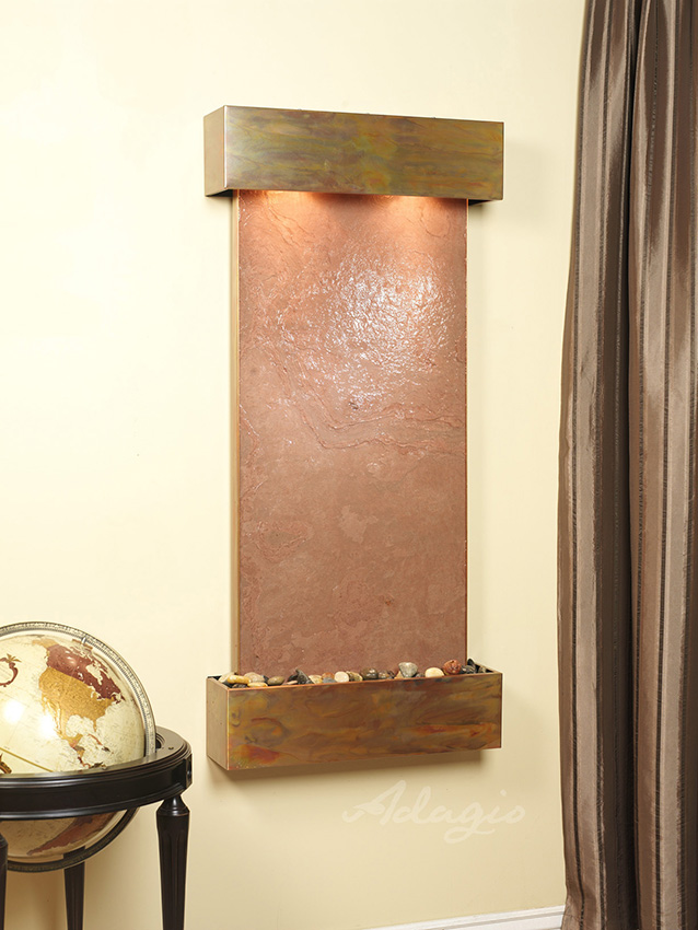 Cascade Springs Wall Water Feature With Lw Multicolored