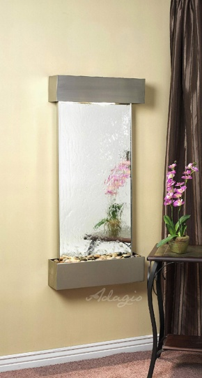The Cascade Springs Glass Wall Water Feature - Water Feature Supply