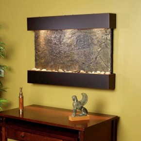 slate wall water feature - reflection creek indoor