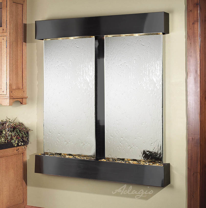 Cottonwood Falls Wall Water Feature With Glass And