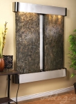 cottonwood-falls-wall-water-feature-with-green-slate-and-stainless-steel-finish