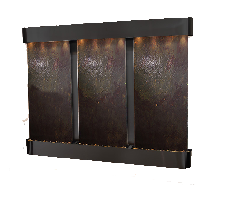 Deep Creek Falls Wall Water Feature Black Lw Slate With