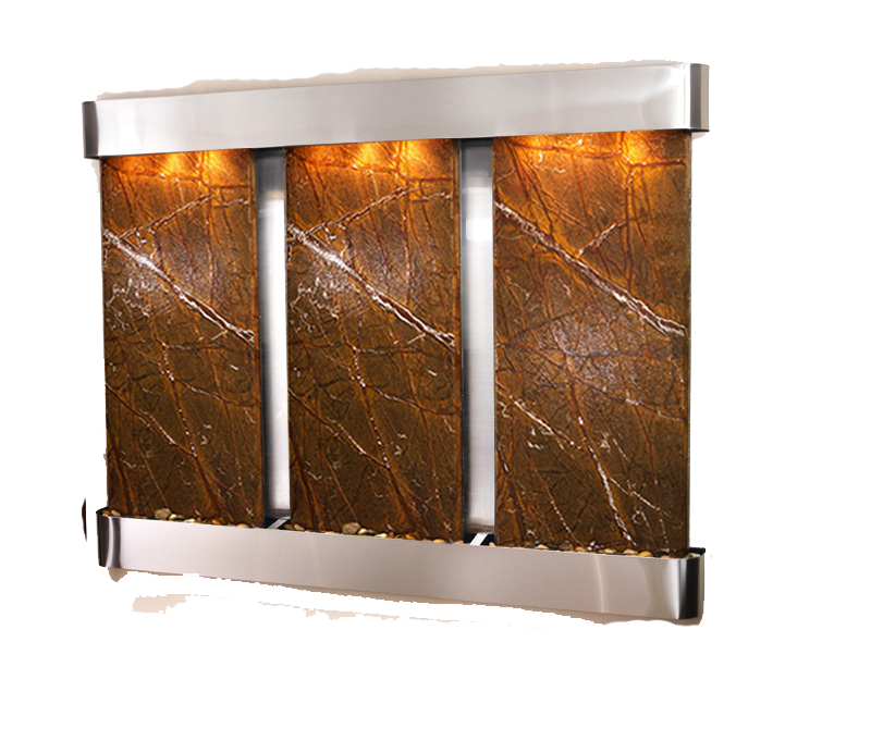 Deep Creek Falls Wall Water Feature Brown Marble With