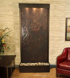 Tranquil River Floor Fountain With LW Slate