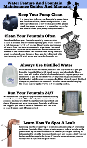 water feature maintenance infographic